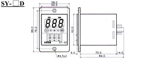 sy系列数字显示计时器